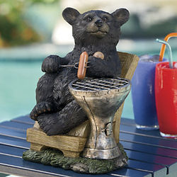 Black Bear BBQ Figurine