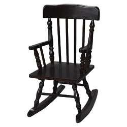 Children's Colonial Rocking Chair in Espresso