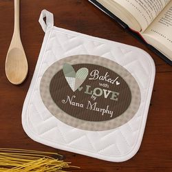 Baked with Love Personalized Potholder