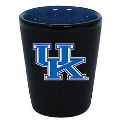 Kentucky Wildcats Two Tone Black Ceramic Shot Glass