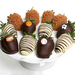 Sports-Themed Chocolate Covered Strawberries