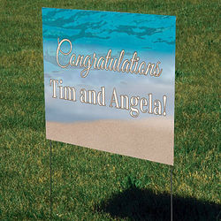 Sandy Beach Personalized Yard Sign