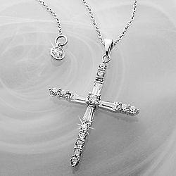 Sparkling Crislu Cross Necklace