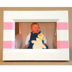 Hand-Painted Picture Frame with 2 Stripes