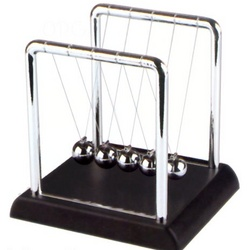 "Newton's Cradle 4"" Black"