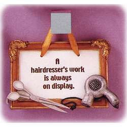Hair Stylist Wall Plaque Gift