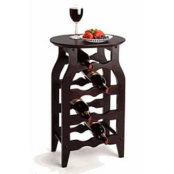 Espresso Beechwood 8 Bottle Wine Rack