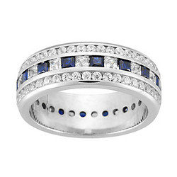 Diamond & Sapphire Eternity Band