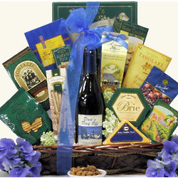 Dad's Day Off Father's Day Gourmet Wine Gift Basket