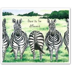 The Line Up Personalized Zebra Print