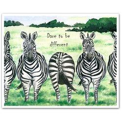 The Line Up Personalized Zebra Print