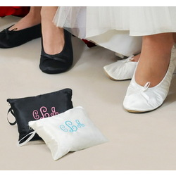 Ballet Shoes with Embroidered Gift Pouch