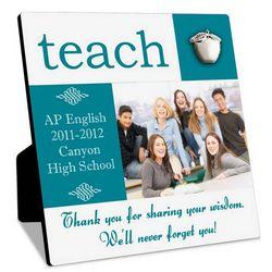 Personalized Teacher Photo Plaque