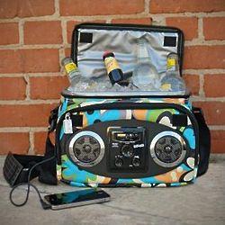 Flower Power Chillin iPod Ready Radio Cooler