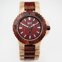 Two-Tone Natural Wood Watch