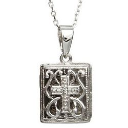 Sterling Silver Cross Bible Locket