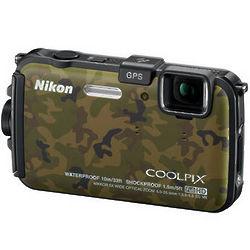 Camouflage Nikon Coolpix AW100 Waterproof Digital Camera