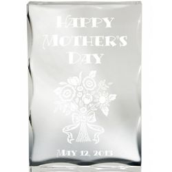 Bouquet for Mom Lucite Paperweight