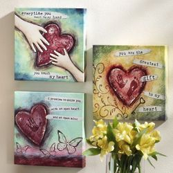 Set of 3 Heart Prints
