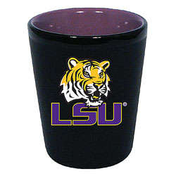 LSU Tigers Two Tone Black Ceramic Shot Glass