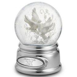 Personalized Love Bird Snow Globe