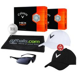 Golfer's Personalized Hex Hot Fan Pack with Hat
