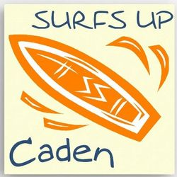 Kid's Personalized Surf Board Canvas Sign