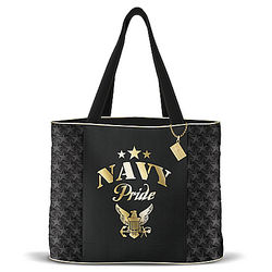 Women's Military Pride Navy Quilted Tote Bag