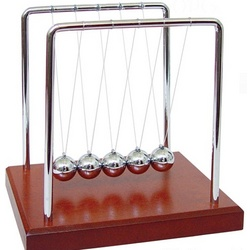"Newton's Cradle 5"" Brown"