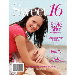 Sweet 16 Personalized Magazine Cover