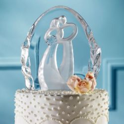 Symbol of Love Wedding Cake Top with Lighted Base