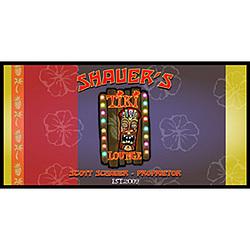 Personalized Tiki Poker Set