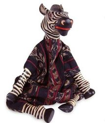 Talking Zebra Wood Display Doll
