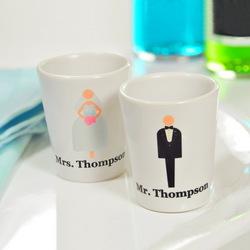 Custom Bride & Groom Shot Glasses