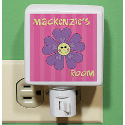 Personalized Flower Night Light