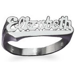 Sterling Silver Script Name Ring