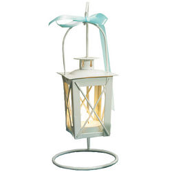 White Wedding Table Candle Lantern