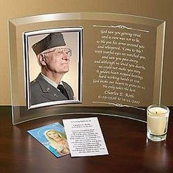 Personalized Beveled Glass Memorial Frame