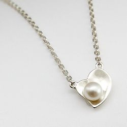Sterling Heart and Pearl Necklace