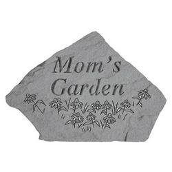 Mom's Garden Engraved Garden Stone