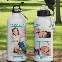 Picture Perfect Personalized 4 Photo Water Bottle