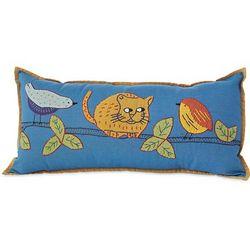 Cat with Birds Pillow