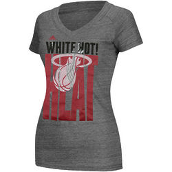 Women's Miami Heat White Hot T-Shirt