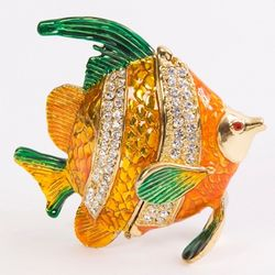 Exquisite Crystal Sunfish Trinket Box