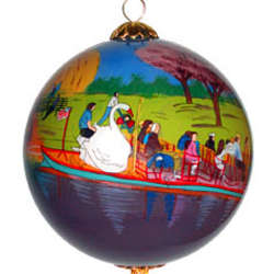 Swanboat Ball Ornament
