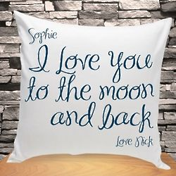 Personalized Message Throw Pillow