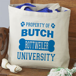 Property Of Personalized Dog Tote Bag