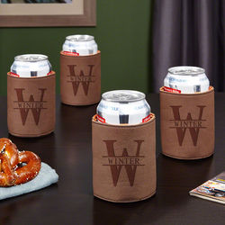 4 Personalized Oakmont Beer Koozies