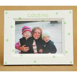 Personalized Cousins Picture Frame with Dotted Pattern