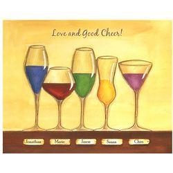 Cheers to Friendship Wineglasses VI Personalized Artwork